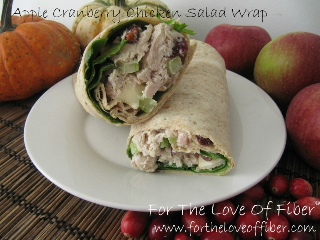 Apple Cranberry Turkey Salad Spinach Wraps