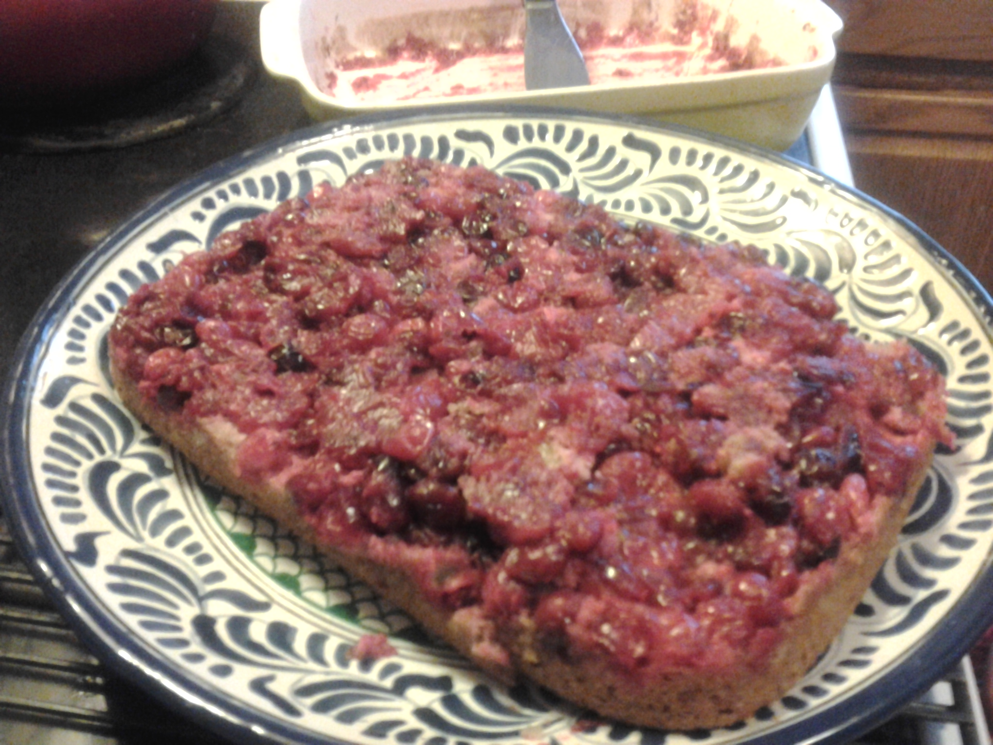 Let them eat upside down paleolithic cranberry cake for Atkins cuisine all purpose baking mix where to buy
