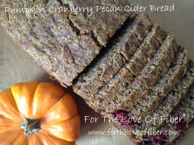 Pumpkin Cranberry Pecan Cider Bread