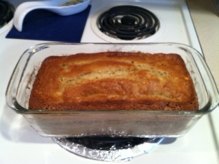 Banana Bread--just out of the oven