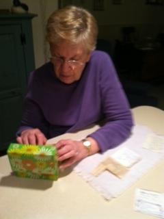 Nana and card box