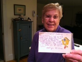 Nana with recipe card