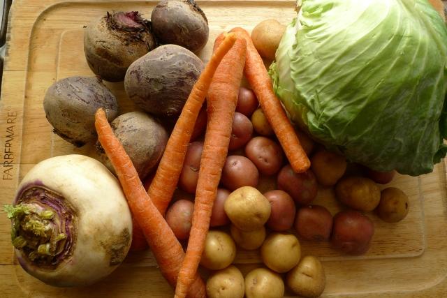Boiled Dinner Ingredients