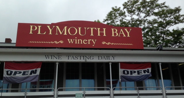 Plymouth Bay Winery Sign