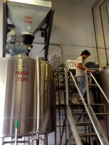 Ryan, Head Brewmaster, and Otto, hard at work