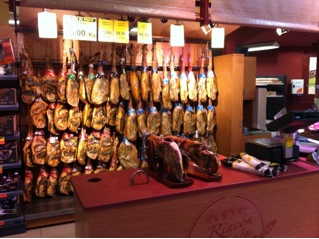 This, by the way, is not a butcher's shop, it is an aisle in a Valencian department store, like a Walmart.