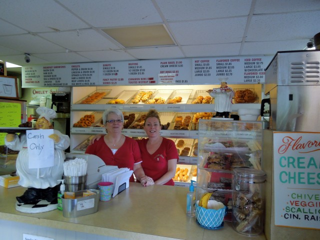 Sharon Morganelli, left, and Tammy Pizzi, right, at The Other Coffee Shack