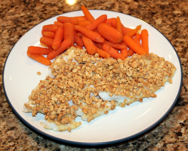 The finished product, served with steamed carrots.