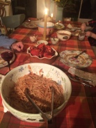 Set the table with lobster picks and pincers, and a bowl for the shells,.