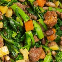 Cooking with Heirloom Beans: Chorizo, Rapini and Beans