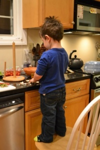 The way to a child's stomach…is through the kitchen!