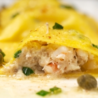 Making Your Own Pasta: Seafood Ravioli with Browned Butter-Caper Sauce